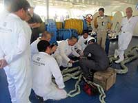 During Mooring Line Splicing