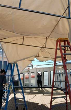 Cruise Ship Canopy Installation