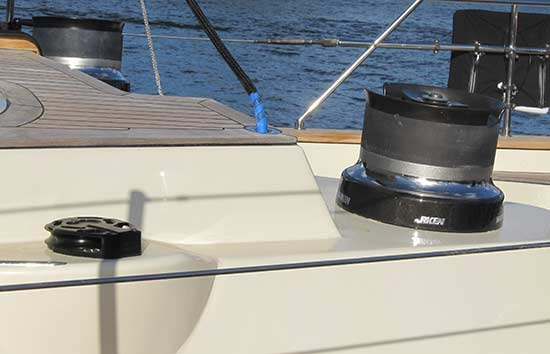 Custom Harken Genoa Block Installation